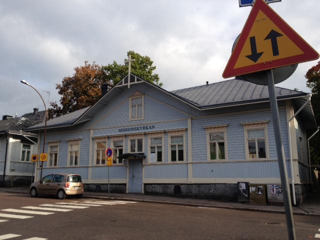 En bild med Missionskyrkan i Borgå på.