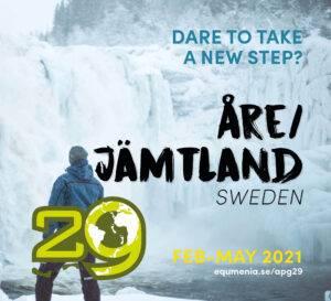 """En bild med logon för apg 29 och texten """"dare to take a step"""""""